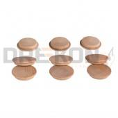 Zaślepki drewniane (grzybki) fi 25mm (100szt)