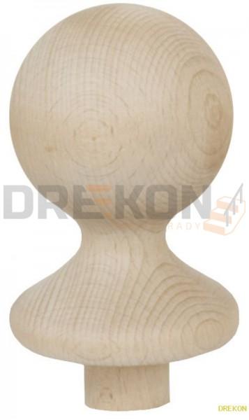 Kula drewniana z podstawką fi~78mm
