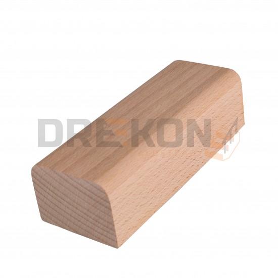 Poręcz drewniana profil zaokrąglany 6x4,5cm