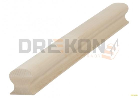Poręcz drewniana profil omega 6x6cm