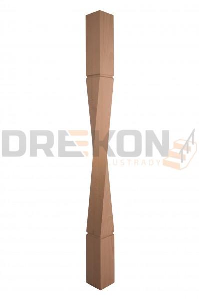 Słup drewniany skrętny S21