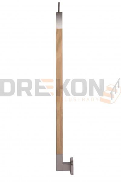 Słupek boczny balustrady profil kwadratowy